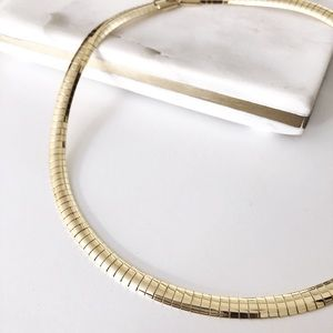 Gold plated Rogan collar necklace